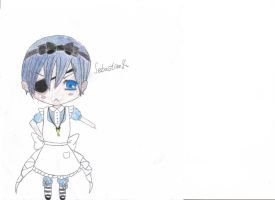 Chibi Ciel {Colored} by vivian123123