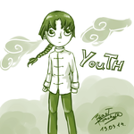 Young Rock Lee such speed sketch wow by BeastKonoha
