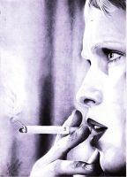 Mia Farrow - Ballpoint by skunkhughest
