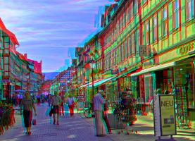Wernigerode Boulevard ::: Dubois-Anaglyph HDR 3D by zour