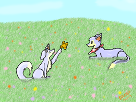 Meadow Lupes by LaCuisineFolle