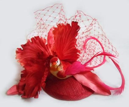 Cerise n' Red Fascinator by rascalkosher