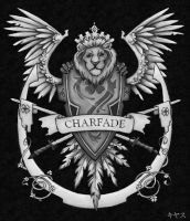Charfade Coat of Arms BW by charfade
