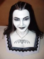 Life size Lily Munster bust by YWIMC