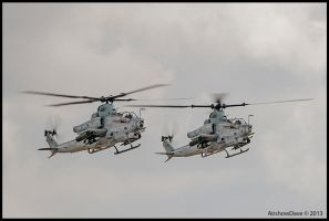 Miramar Look Back A Pair of AH -1 Cobra Vipers by AirshowDave