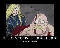FMA: The Armstrong Shocked Look by LittleSansa