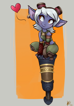 Tristana is love by TamaGoh