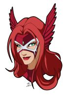 Crimson Valkyrie Headshot by CrimsonVlkyrie