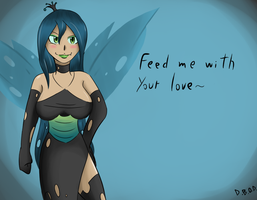 Chrysalis Valentines Card by DinoBirdOfDoom