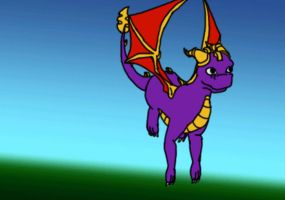 Spyro Flying Animation by chocogingerfingers