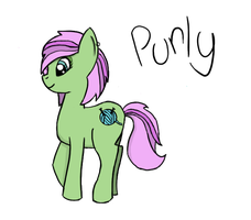 Purly:  MLP:FiM OC by PifflePosh