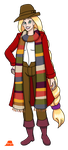 Rapunzel As The Fourth Doctor by PerryWhite