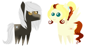 Commission: mini Frostbite and Eventide by ForeshadowART