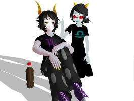 MMD : Gamzee and Terezi by kasumiharu