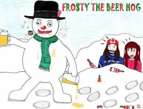 Frosty The Beer Hog by Prince-of-Pop