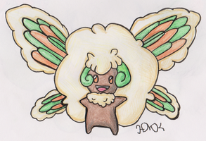 Old Pokemon, New Type 5: Whimsicott by Shabou