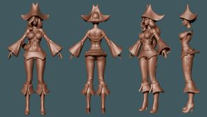 League of Legends: Miss Fortune WIP2 by HazardousArts