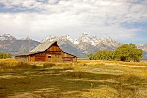 Grand Teton Mormon Row Barn by Kippenwolf