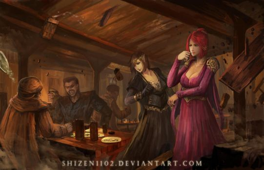 Trouble in a Tavern by shizen1102