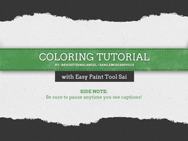 How to use Paint Tool SAI - Coloring Tutorial by ImHisEternalAngel