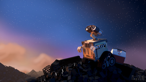 WALL-E [LowPoly] Wallpaper by Mezaka