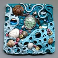 Sea Turtle Sun Catcher Tile by MandarinMoon