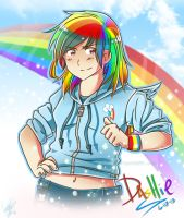 Human Dashie by xXKikaru-ChanXx