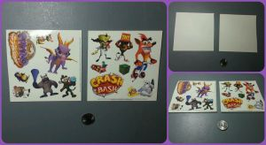 ( Crash Bandicoot / Spyro ) 2000 Demo Stickers by KrazyKari