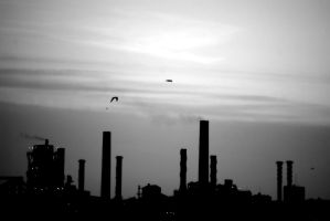 Factory Silhouettte by mythirll