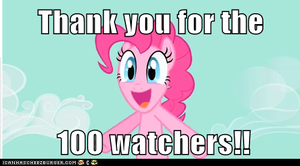 Thank you for 100 watchers by FunnyGamer95