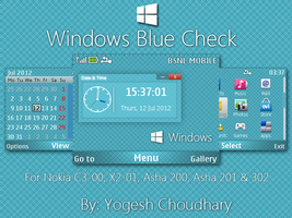 Windows Blue Check Theme for Nokia 320x240 by cyogesh56