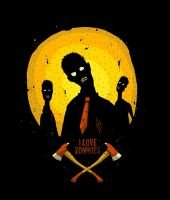 i love zombies by masacrar