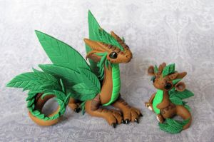 Leaf Dragons by DragonsAndBeasties