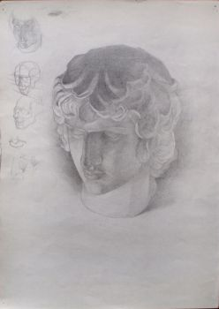Study of Antinous by Kasestas