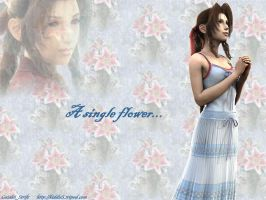 Aerith - a single flower by GaialeiStrife