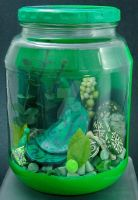 Colour Jars Green by KatarniaHolbart