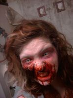Zombie Makeup Test Run by gingerwithasoul13
