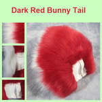 Dark Red Bunny Tail by Lascivus-Lutra