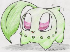 Chikorita Used Tail Wag by plushietoon