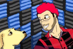 Markiplier and Chica by PinkNinjaOTM