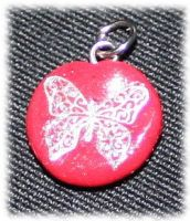 Butterfly necklace pendant. by Mary--Sue