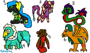 Adoptables batch, (their info in description) by scatteredSparks