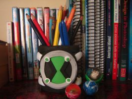 Omnitrix Can for pencils by SilverLady7