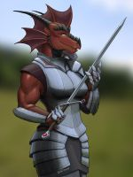 Female warrior by A-Teivos