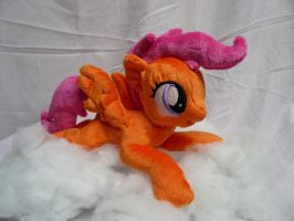 Scootaloo (Lying) Plushie by navkaze