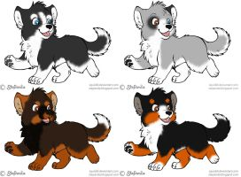 Puppies adoptables :OPEN: by Okami-Heart