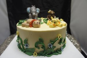 Jungle theme cake by ninny85310