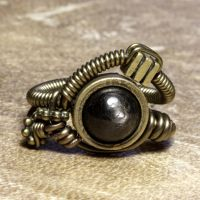 hypersthene steampunk ring by CatherinetteRings