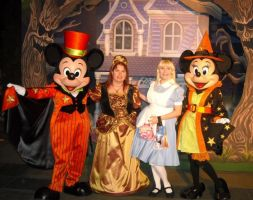 Posing with Mickey and Minnie by ChristineFrollophile