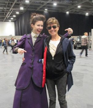 Best enemies! Missy and Twelve at Sherlocked 2016 by ArwendeLuhtiene